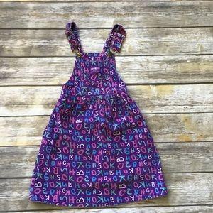 Vintage Oshkosh, purple corduroy overall dress.6x